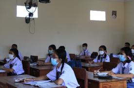 SMAN 1 Sukawati Mulai Laksanakan PTMT dengan Protokol Kesehatan Ketat