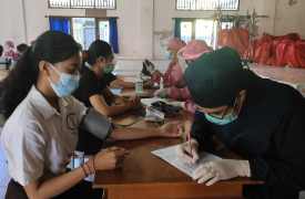 Pelaksanaan Vaksinasi COVID-19 Siswa/i SMA Negeri 1 Sukawati.